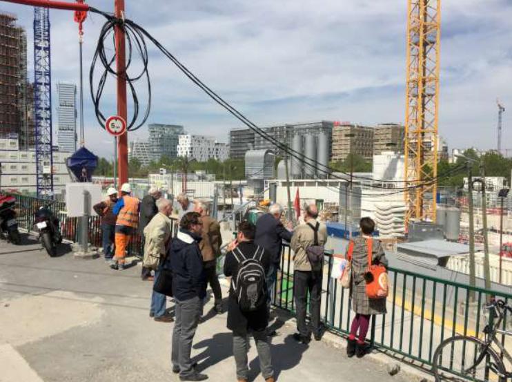 Visiting worksite_Line 14 extension_April 2017