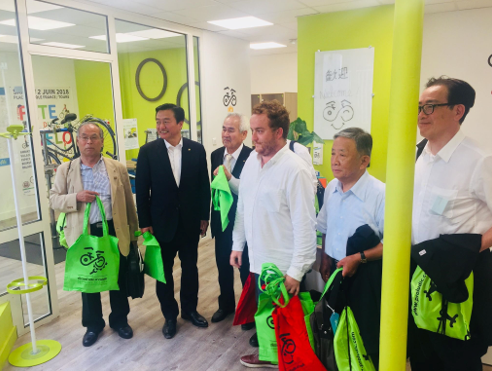 Cycling centre Tours-Japanese councillors visit_Feb 2019